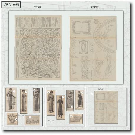Sewing patterns La Mode Illustrée 1911 N°48
