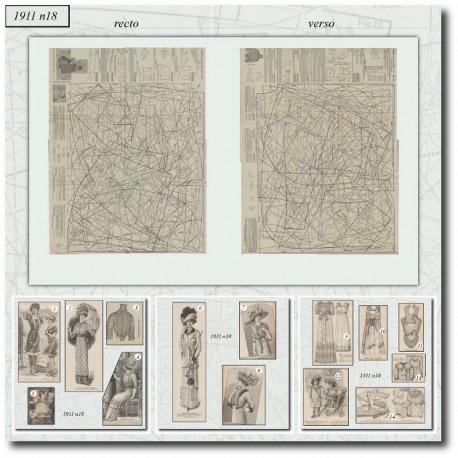 Sewing patterns La Mode Illustrée 1911 N°18