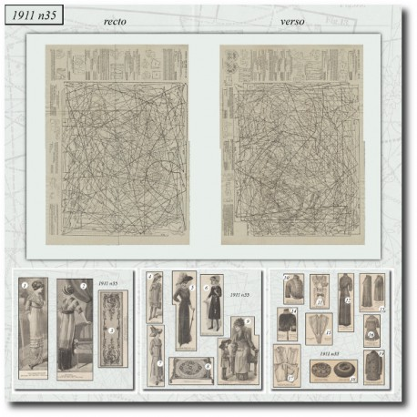 Sewing patterns La Mode Illustrée 1911 N°35