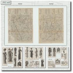 Sewing patterns La Mode Illustrée 1911 N°43