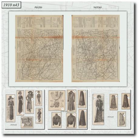 Sewing patterns Mode Illustrée 1910 43