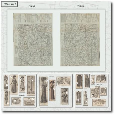 Patrons de La Mode Illustrée 1910 N°15