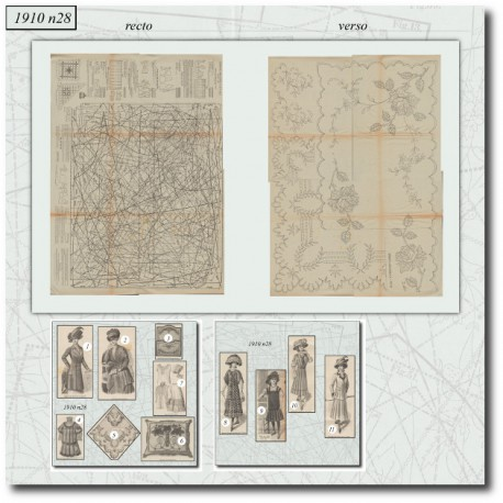 Sewing patterns Mode Illustrée 1910 28