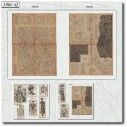 Sewing patterns La Mode Illustrée 1909 N°2