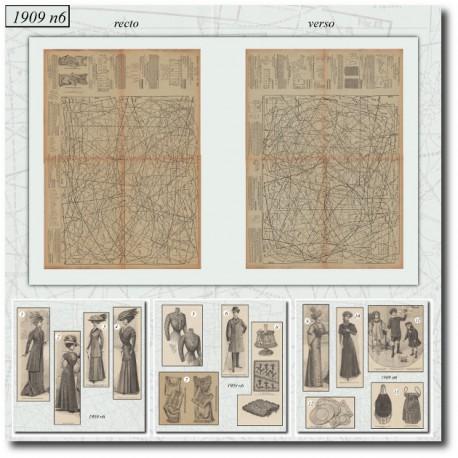 Sewing patterns La Mode Illustrée 1909 N°6