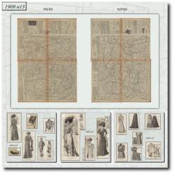 Sewing patterns La Mode Illustrée 1909 N°13