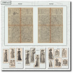Patrons de La Mode Illustrée 1909 N°15