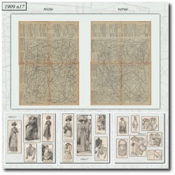Sewing patterns La Mode Illustrée 1909 N°17