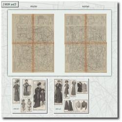 Patrons de La Mode Illustrée 1909 N°45