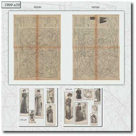 Sewing patterns La Mode Illustrée 1909 N°50