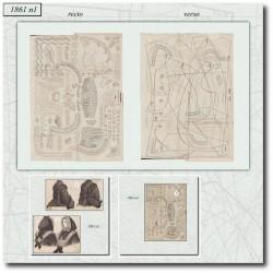 Patrons de La Mode Illustrée 1861 N°01