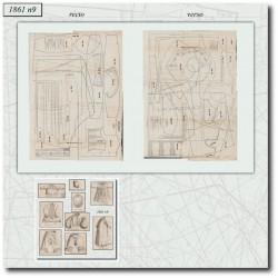 Sewing patterns La Mode Illustrée 1861 N°09