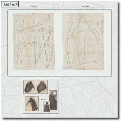 Sewing patterns La Mode Illustrée 1861 N°18