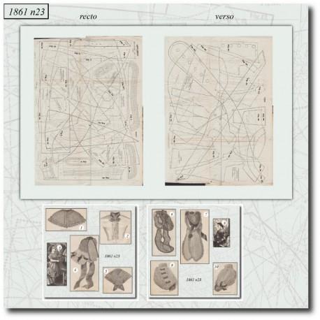 Patrons de La Mode Illustrée 1861 N°23