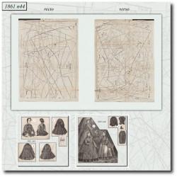 Patrons de La Mode Illustrée 1861 N°44