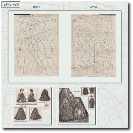 Sewing patterns La Mode Illustrée 1861 N°44