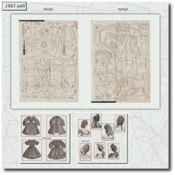 Historical sewing patterns La Mode Illustrée 1861 N°48