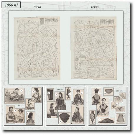 Sewing patterns Mode Illustrée 1866 01