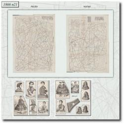 Patrons de La Mode Illustrée 1866 N°21
