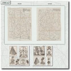 Patrons de La Mode Illustrée 1866 N°27
