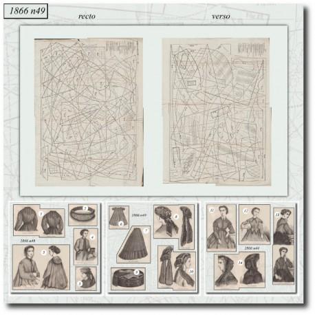 Sewing patterns Mode Illustrée 1866 49
