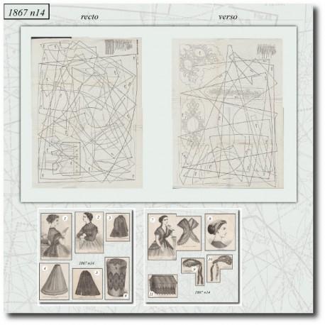 Sewing patterns La Mode Illustrée 1867 N°14