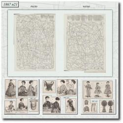 Patrons de La Mode Illustrée 1867 N°31
