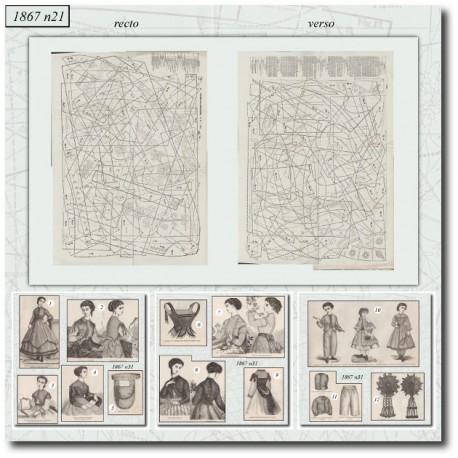 Sewing patterns La Mode Illustrée 1867 N°31