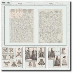 Patrons de La Mode Illustrée 1867 N°35