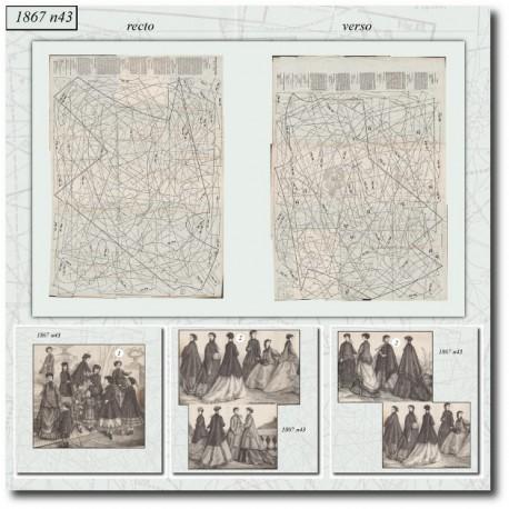 Sewing patterns La Mode Illustrée 1867 N°43