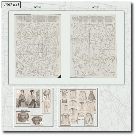 Sewing patterns La Mode Illustrée 1867 N°45