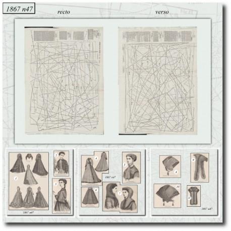Sewing patterns La Mode Illustrée 1867 N°47