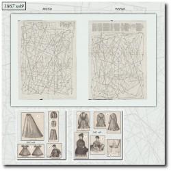 Sewing patterns La Mode Illustrée 1867 N°49