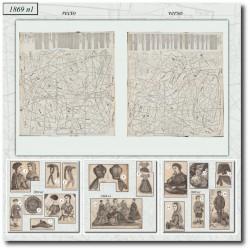 Patrons de La Mode Illustrée 1869 N°01