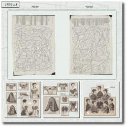 Patrons de La Mode Illustrée 1869 N°03