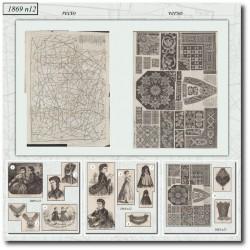 Sewing patterns La Mode Illustrée 1869 N°12