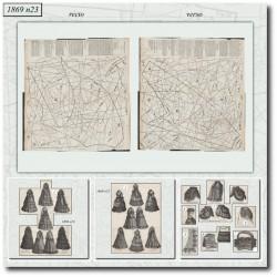 Sewing patterns La Mode Illustrée 1869 N°23
