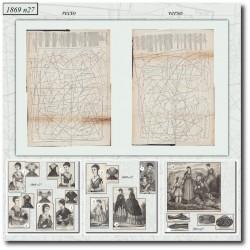 Sewing patterns La Mode Illustrée 1869 N°27