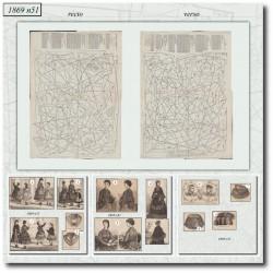 Sewing patterns La Mode Illustrée 1869 N°51
