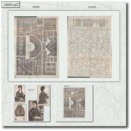 Sewing patterns La Mode Illustrée 1869 N°42