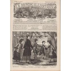 Complete magazine La Mode Illustrée 1876 N°43