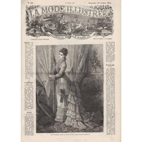 Complete magazine La Mode Illustrée 1876 N°44