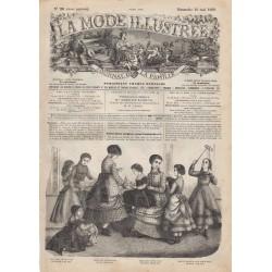 Complete magazine La Mode Illustrée 1869 N°20