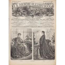 Complete magazine La Mode Illustrée 1869 N°34