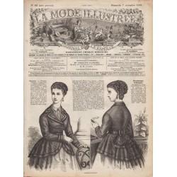 Complete magazine La Mode Illustrée 1869 N°45