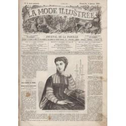 Complete magazine La Mode Illustrée 1867 N°01