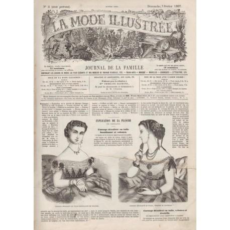 Complete magazine La Mode Illustrée 1867 N°05