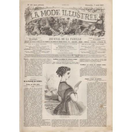 Complete magazine La Mode Illustrée 1867 N°14