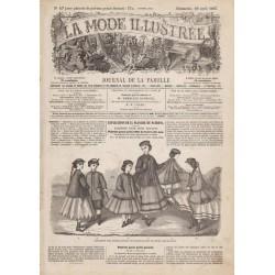 Complete magazine La Mode Illustrée 1867 N°17