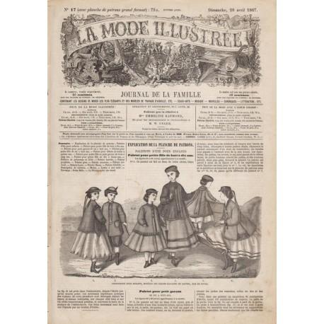 Revue complète de La Mode Illustrée 1867 N°17